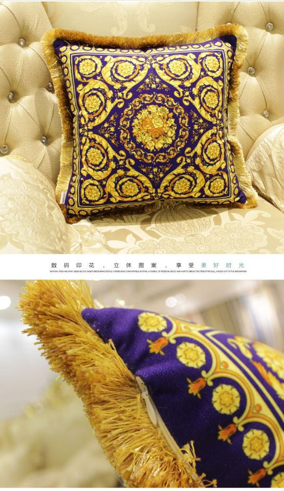 5 piece-Limited Edition Royal Europe French  Italy Baroque Rococo Cushion Covers-Style A (1)
